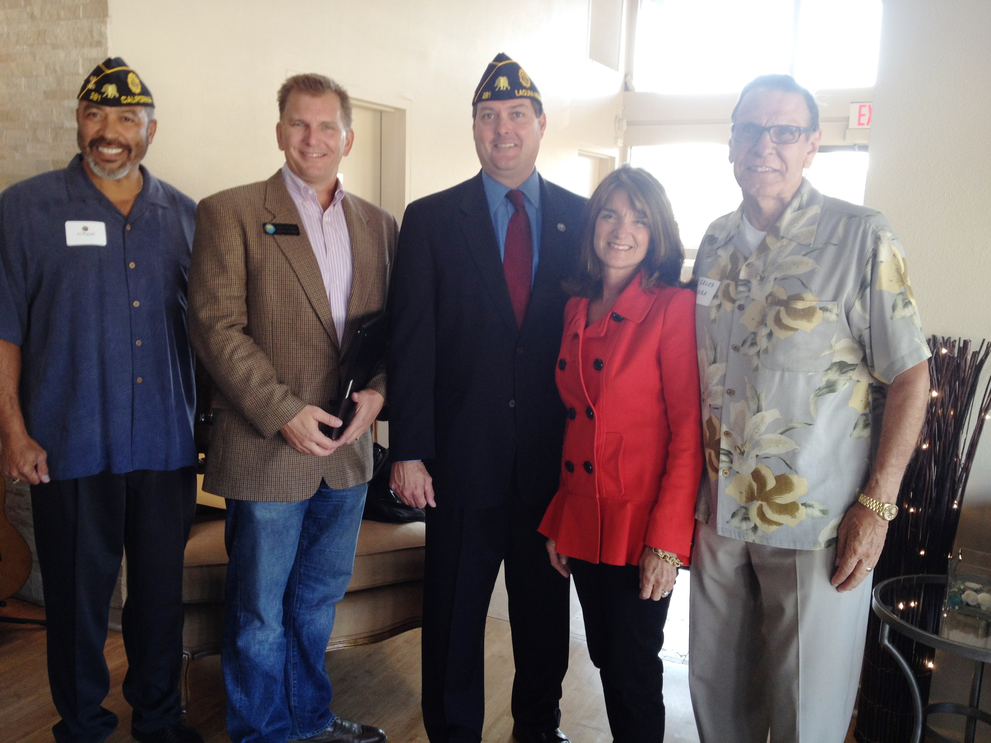 Local leaders and members of the American Legion Post 281, serving Dana Point, Laguna Niguel, Aliso Viejo and Laguna Hills, gathered at the post's new Harbor home on Monday. Photo by Andrea Papagianis
