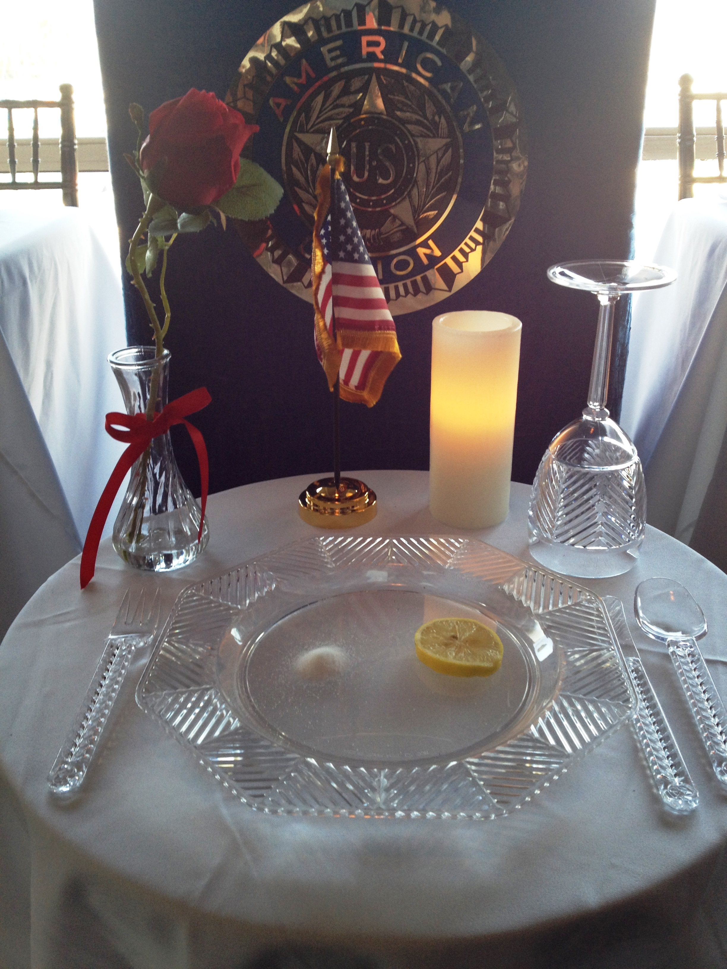The American Legion pays homage to missing comrades. Photo by Andrea Papagianis