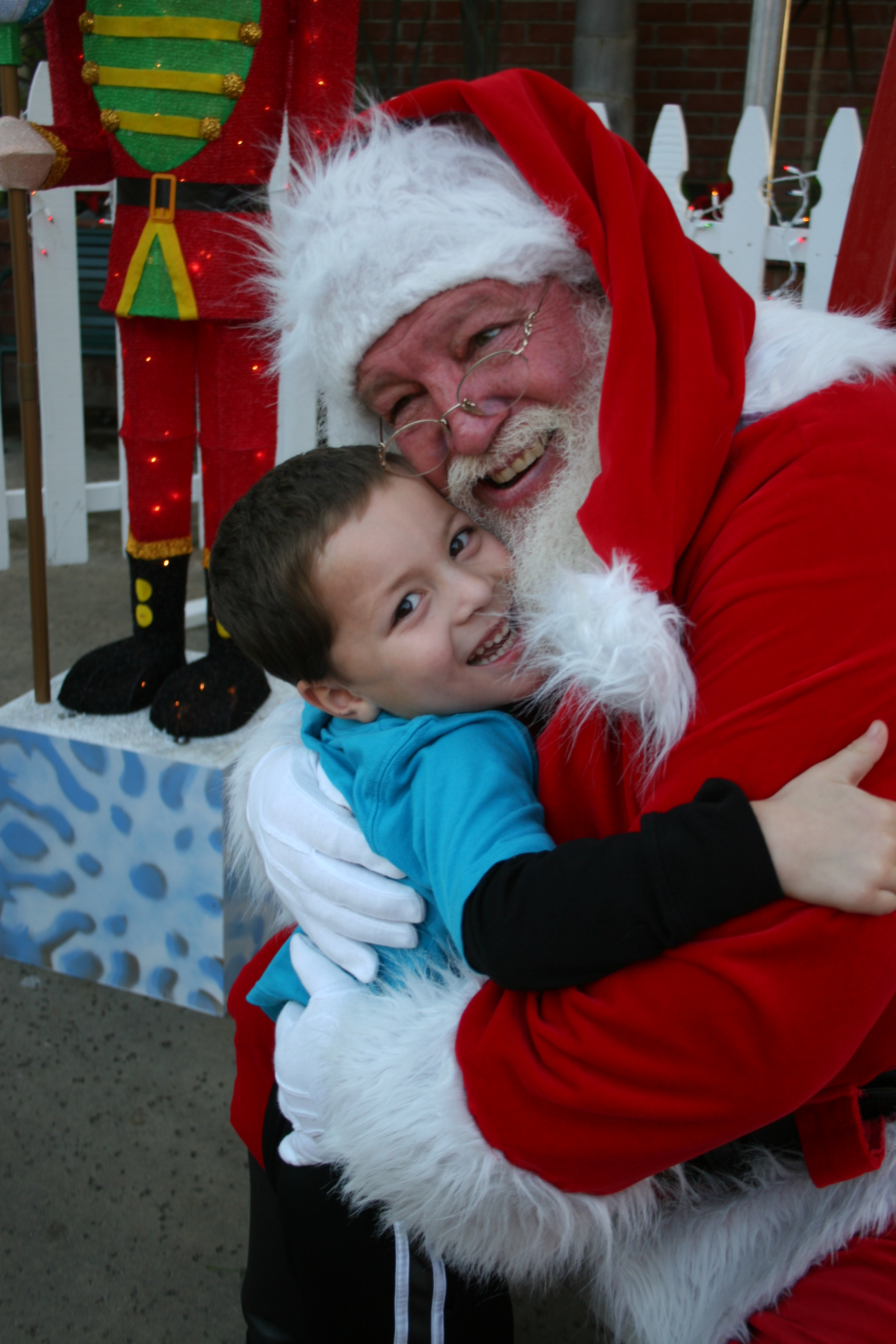 Play santa claus for foster children disabled elderly