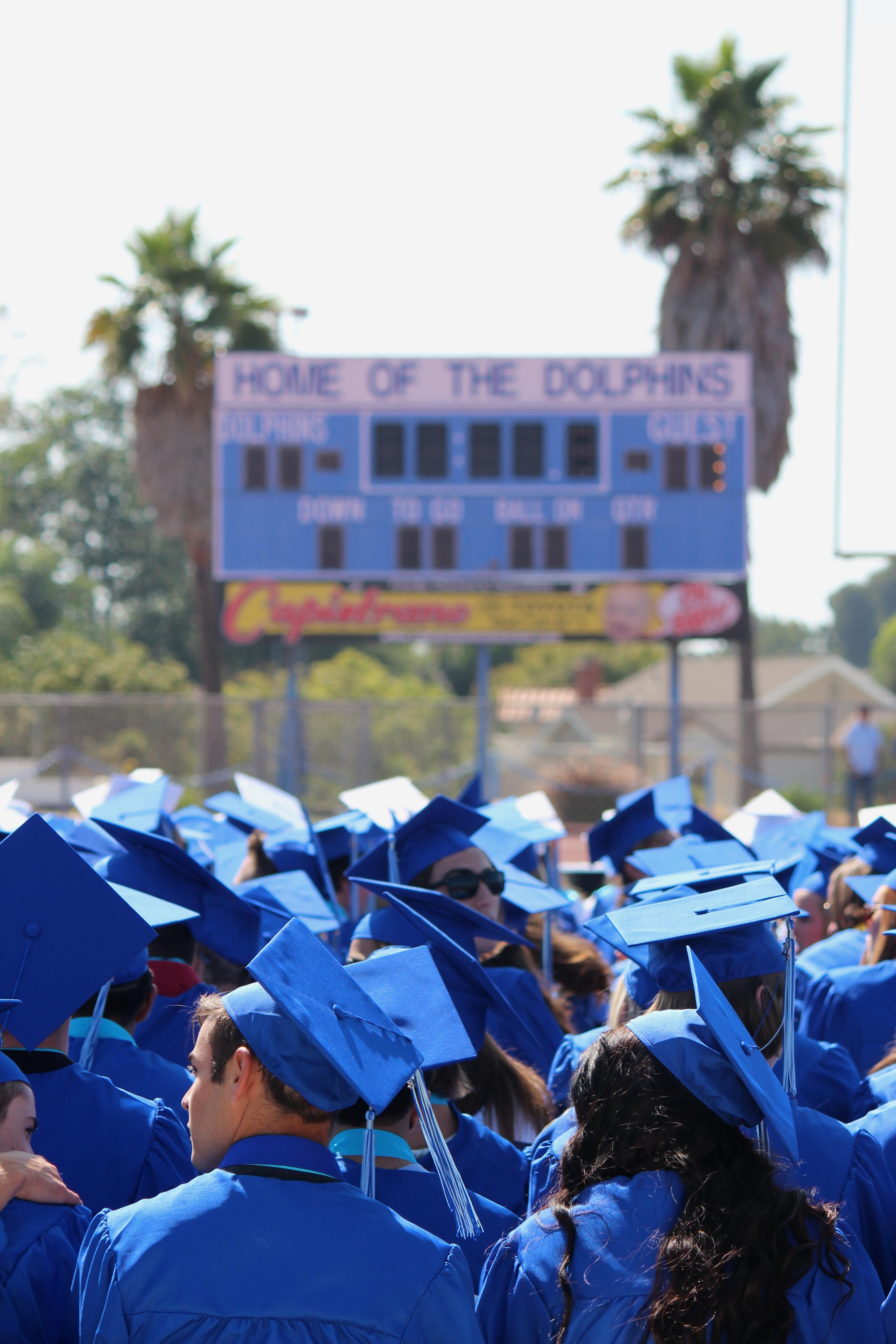 Graduates Wait for Ceremony to Start