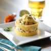Inka Mama's causa is a spicy concoction of seared shrimp salad layered between potato pancakes. Photo: Courtesy of Inka Mama's