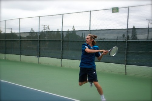 Dana Hills senior Chase Masciorini advanced to the semifinals of the CIF-SS Individual Tennis Championships. Courtesy photo