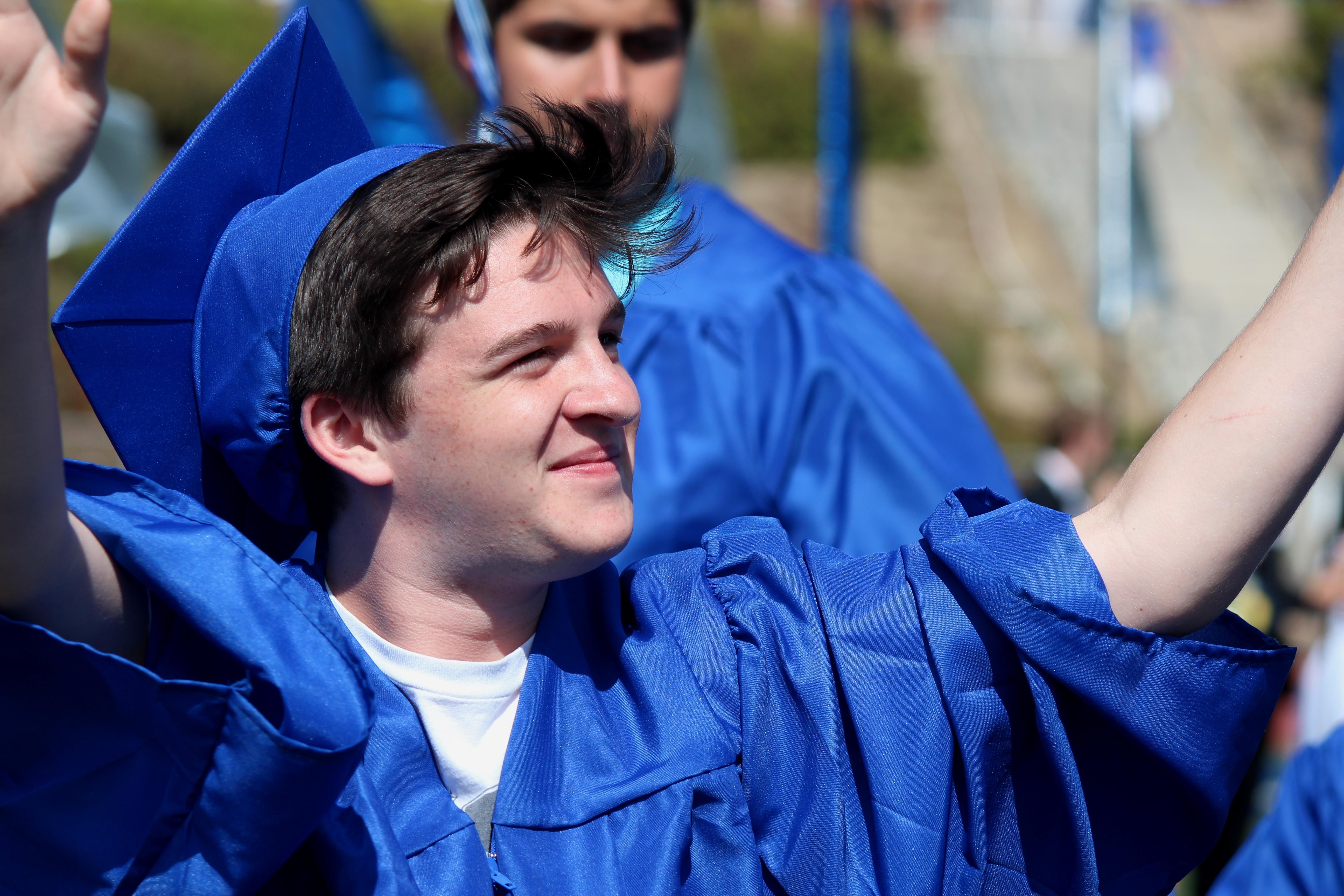 Graduates Enter Stadium