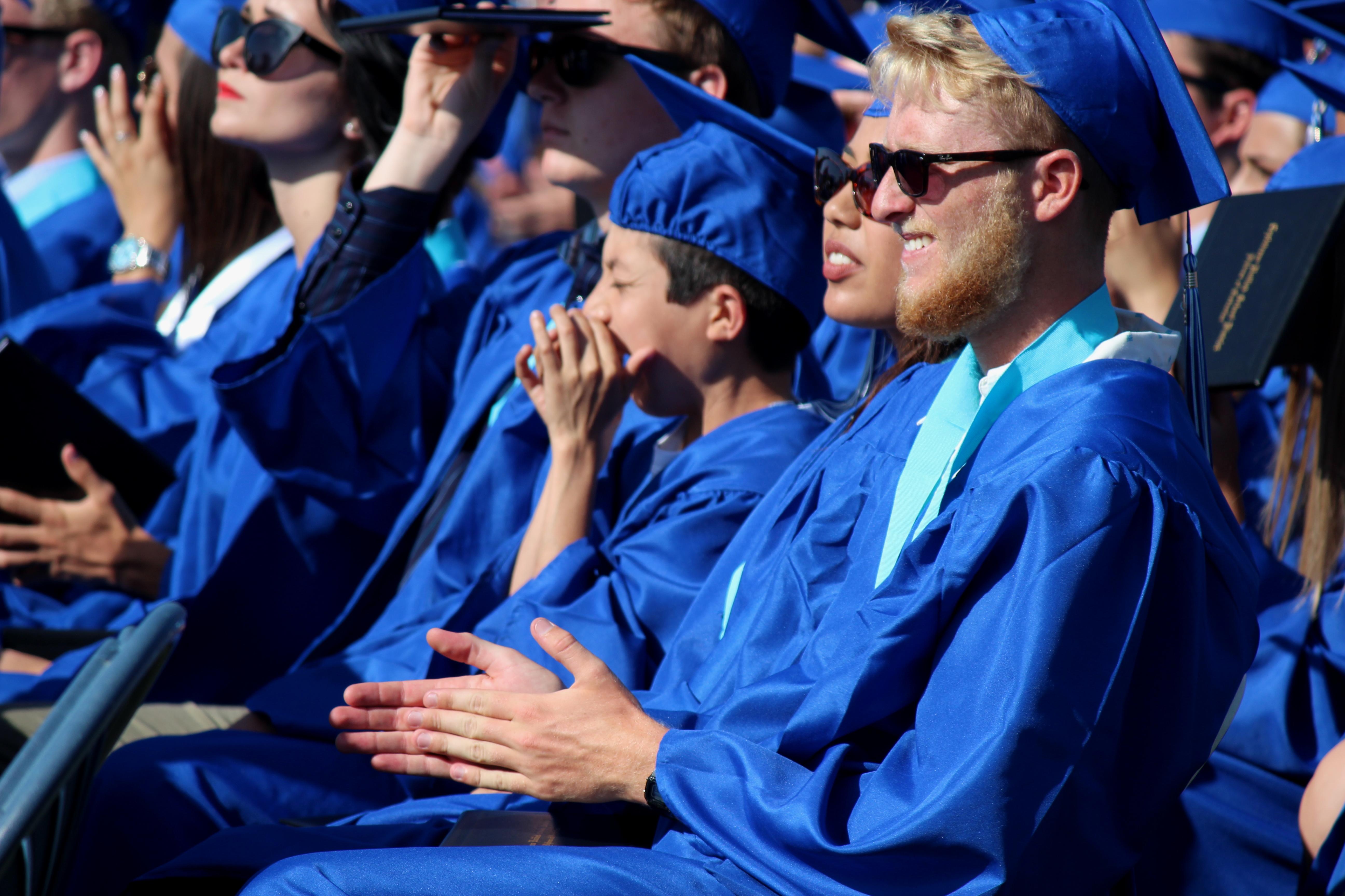 Students Applaud During Graduation