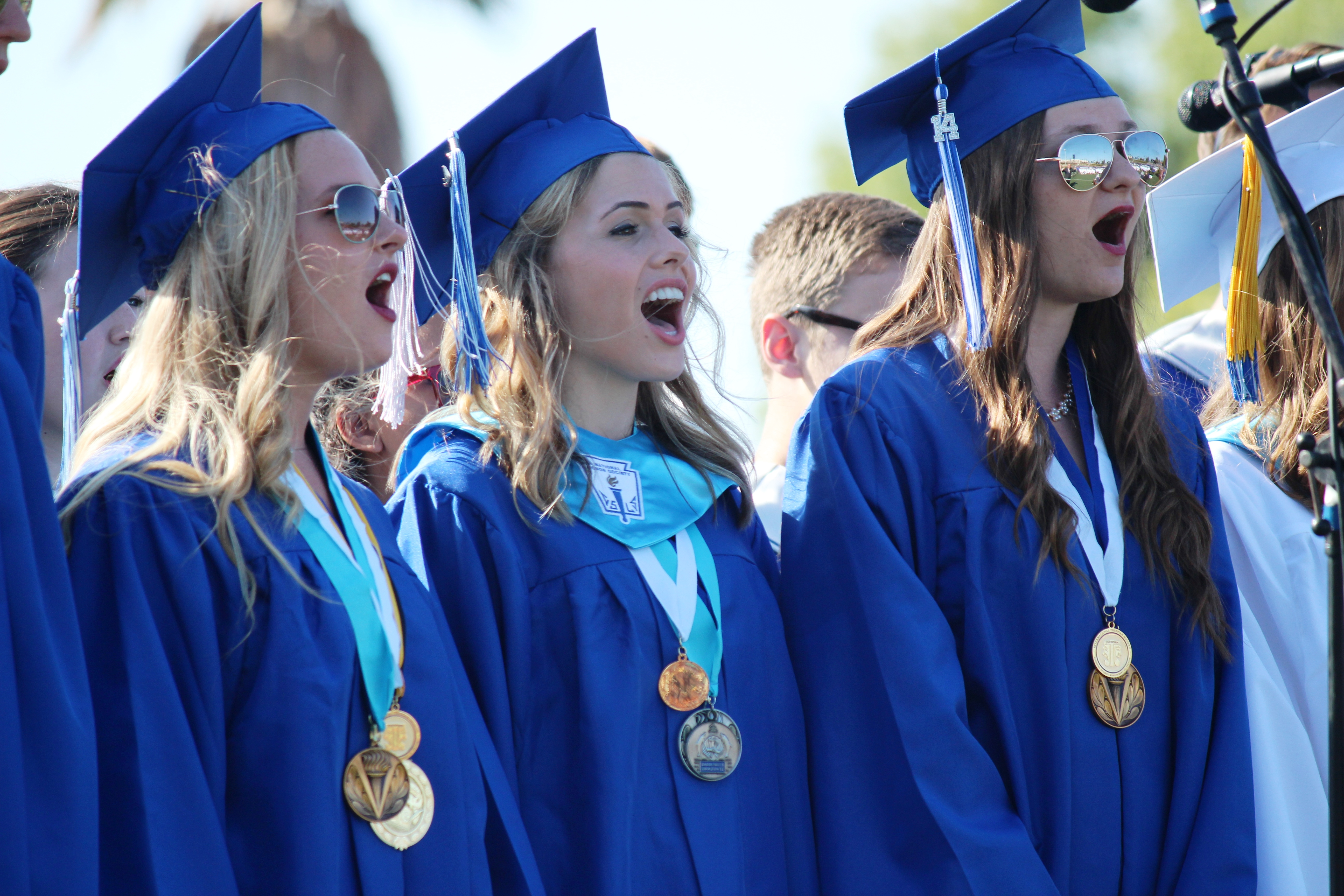 """Graduates Sing """"What I Did For Love"""""""