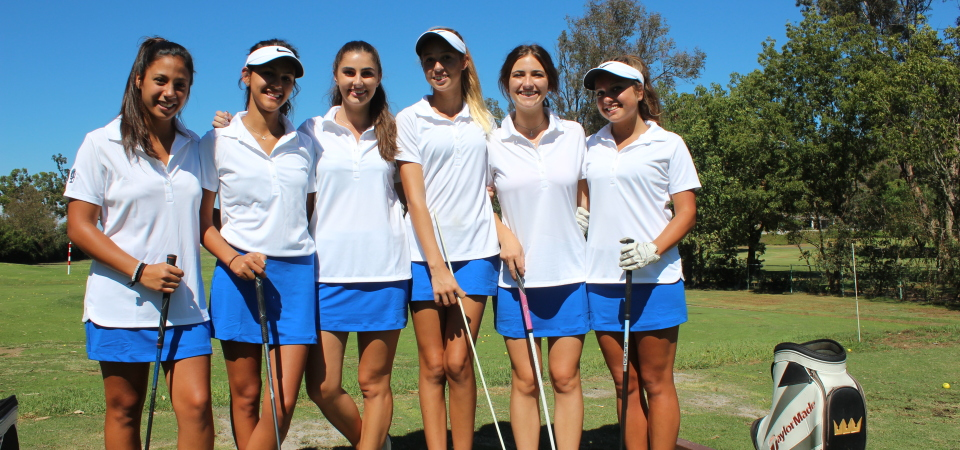 The Dana Hills girls golf team has benefited from a productive offseason. Photo: Steve Breazeale