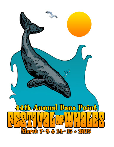 This design by Alec Brady, a Dana Hills High School student, was chosen as the official logo for the 2015 Dana Point Festival of Whales. Graphic: Courtesy of the Festival of Whales