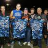 Dana Hills players present their custom jerseys to military veterans during last year's Honor the Valor football game. Courtesy photo