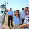 EPA Administrator Gina McCarthy visited San Clemente Monday to discuss watershed protection with the Surfrider Foundation. Photo: Jim Shilander