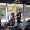 Salon Revelation stylist Jen McCoy works with a client at the salon's new location. Owner Dayna Dallas said it was time for a change. Photo: Steve Sohanaki