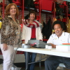 Nancy Tallman, Janet Cook-O'Connor and Ben Gourion Mestman volunteered on Election Day at Dana Point Fire Station 30.