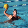 Junior Maia Borisoff lines up a pass during a Dana Hills girls water polo practice. Photo: Steve Breazeale