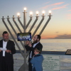 The Chabad Center of San Clemente hosts its annual Menorah lighting at the San Clemente Pier Sunday. This photograph is from last year's event. Photo: Quinn Conway