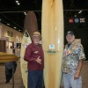 "Surfers Jack ""Murph the Surf"" Murphy and Dick Catri are shown here in January at Surf Expo in Florida with Murphy's ""Parole Board."" Photo: Sharon Marshall"