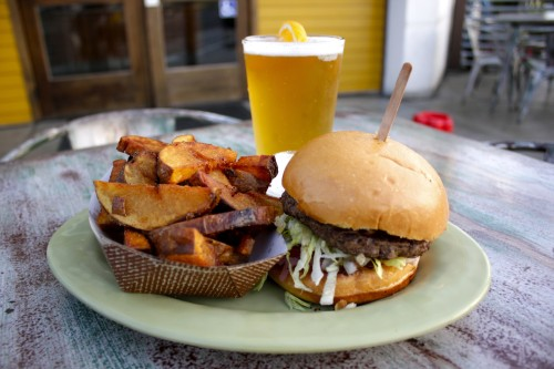 Shwack Beach Grill features a great selection of craft brews to pair with its tasty burgers, spuds and other menu favorites. Photo: Brian Park