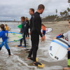 Micro Grom competitors and their dads await the start of their heat at Soul Surf Series event No. 5, Feb. 28 at T Street in San Clemente. Photo: Andrea Swayne