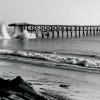 Capistrano Beach Pier in 1965 during its demolition. Photo: Courtesy of the Carlos N. Olvera Collection