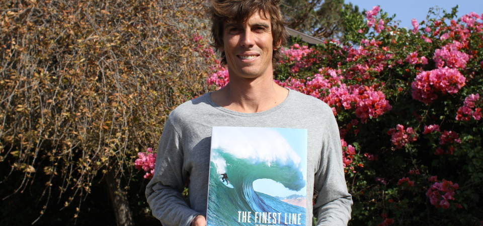 """Rusty Long, a professional big wave surfer from San Clemente, will debut his first book, """"The Finest Line: The Global Pursuit of Big Wave Surfing"""" on May 2 at Interval Gallery. Photo: Andrea Swayne"""