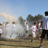 Students get covered in colored tempera and corn starch in the Color Run. Photo: Andrea Swayne