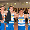 From L to R: Diego Southard, Colin Stein, Jake Ogden and Mason Coppi won the distance medley relay race at the Arcadia Invitational on April 11. Photo: Courtesy