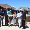 Yoko and Steve Jorgensen (center) were presented with the South Coast Water District's second Water Saver of the Month Award and a $500 check on Monday for converting their front landscaping to a drought-tolerant rock garden. Shown (L to R) are SCWD Reclamation/Water Use Efficiency Supervisor, Larry Fregin; SCWD Director Wayne Rayfield; homeowners Steve and Yoko Jorgensen, SCWD Director Rick Erkeneff and Andy Brunhart, the district's general manager. Photo: Andrea Swayne