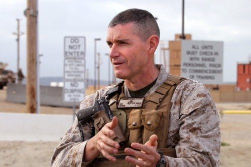Colonel Jason Bohm, USMC, will address the public June 9 at the Ocean Institute in Dana Point, on the Marines' deployment to the Middle East with SPMAGTF-CC-CR. Photo: Courtesy