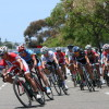 Riders in the 2014 Dana Point Grand Prix women's pro race whip around a corner. Photo: Andrea Swayne