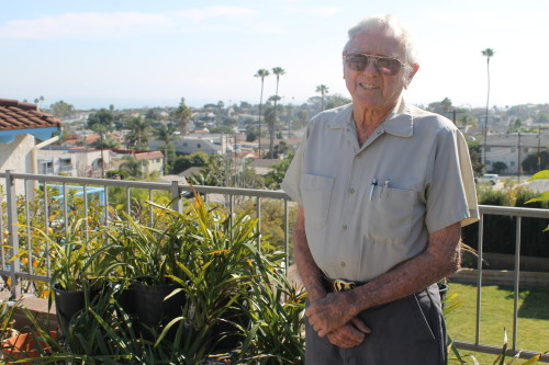 "Rest in peace, Melvyn ""Mel"" Ralph Pierce, August 11, 1923 – May 19, 2015. This photo was taken for a January 2014 story in the Dana Point Times about the his time as a volunteer firefighters of Station 29 in Capistrano Beach, of which Pierce was a founder and 25-year member. Photo: Andrea Papagianis"