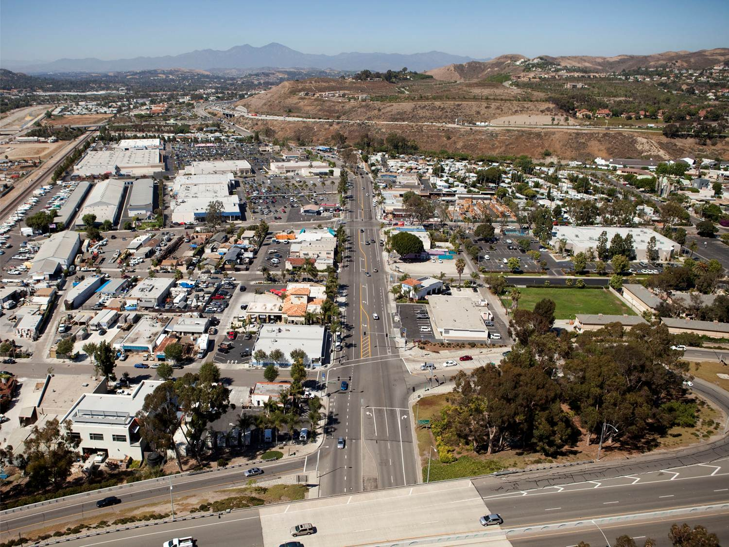 An aerial view of the Doheny Village area of Capistrano Beach in Dana Point. Photo: Courtesy of the city of Dana Point/ROMA Design Group