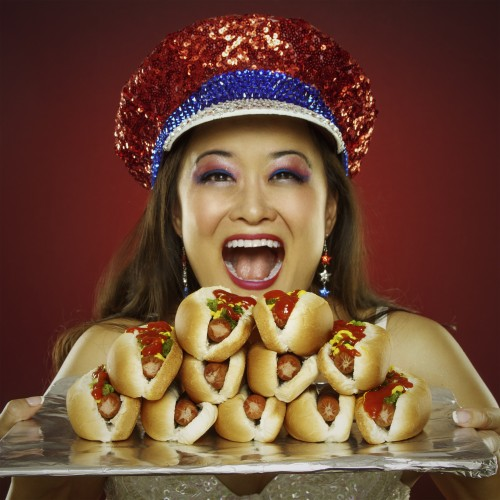 Dana Point resident Mary Bowers has made a name for herself in the world of competitive eating. Photo: Cory Stierley
