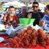 Hungry diners enjoy a steak and lobster feast and last year's Dana Point Lobster Fest. Photo: Andrea Swayne