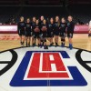 The Dana Hills girls basketball team played a preseason exhibition game against Laguna Beach at the Staples Center in Los Angeles on Nov. 25. Photo: Courtesy