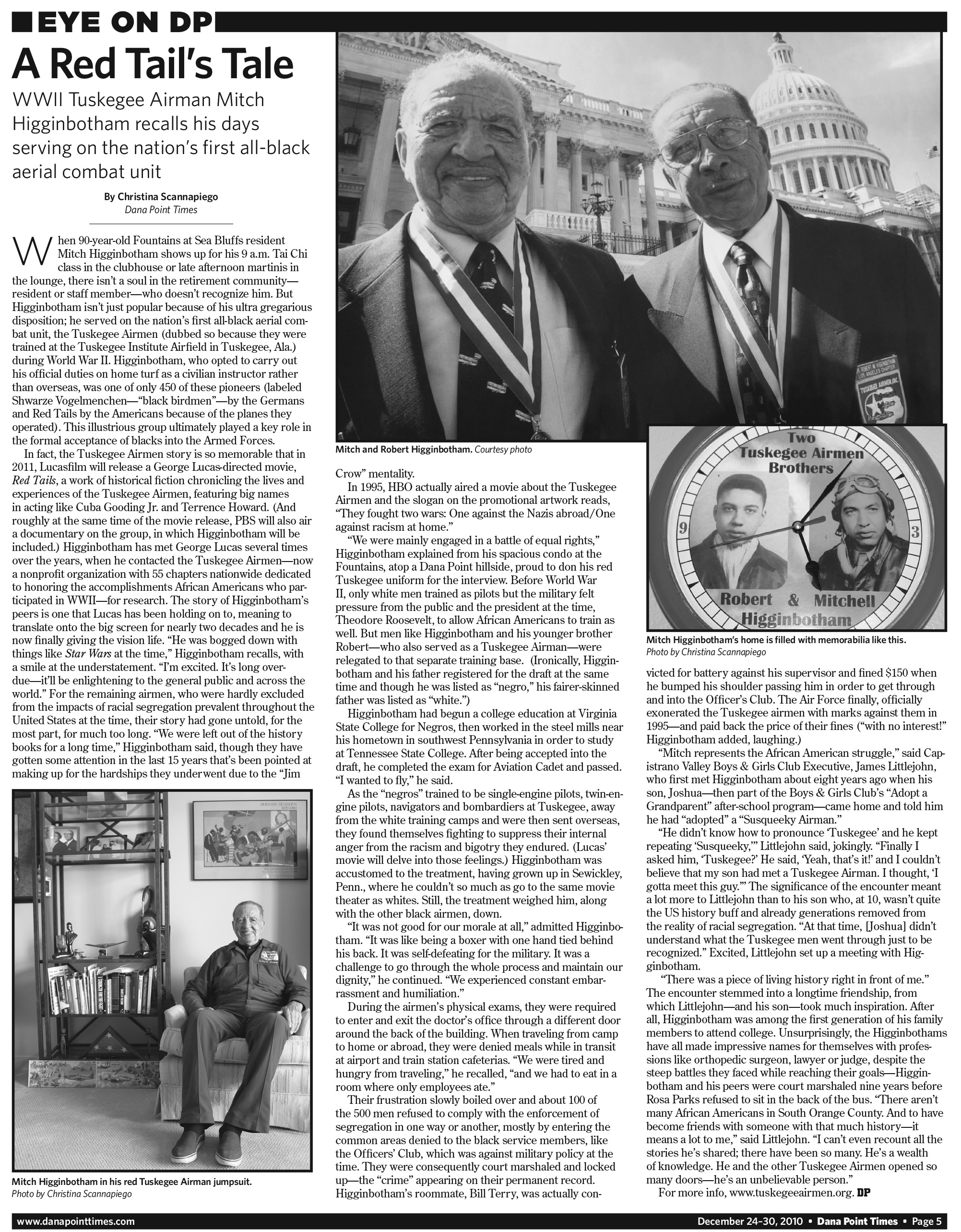 the tuskegee airmen newspaper articles