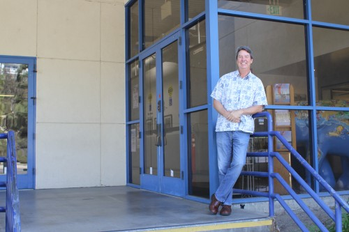 Kevin Evans stands outside his workplace of the past 26 years, the Dana Point Community/Senior Center. Photo: Andrea Swayne