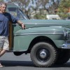 Dave Holmes stands with his 1947 Mercury 4X4 camper wagon, one of nearly 200 vehicles on display at Doheny Wood on April 23 at Doheny State Beach. Photo: Jorge Maldonado