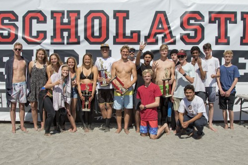 The San Clemente High School team was crowned Scholastic Surf Series Section A state champions, April 16-18 in Oceanside. Photo: Sheri Crummer/SSS