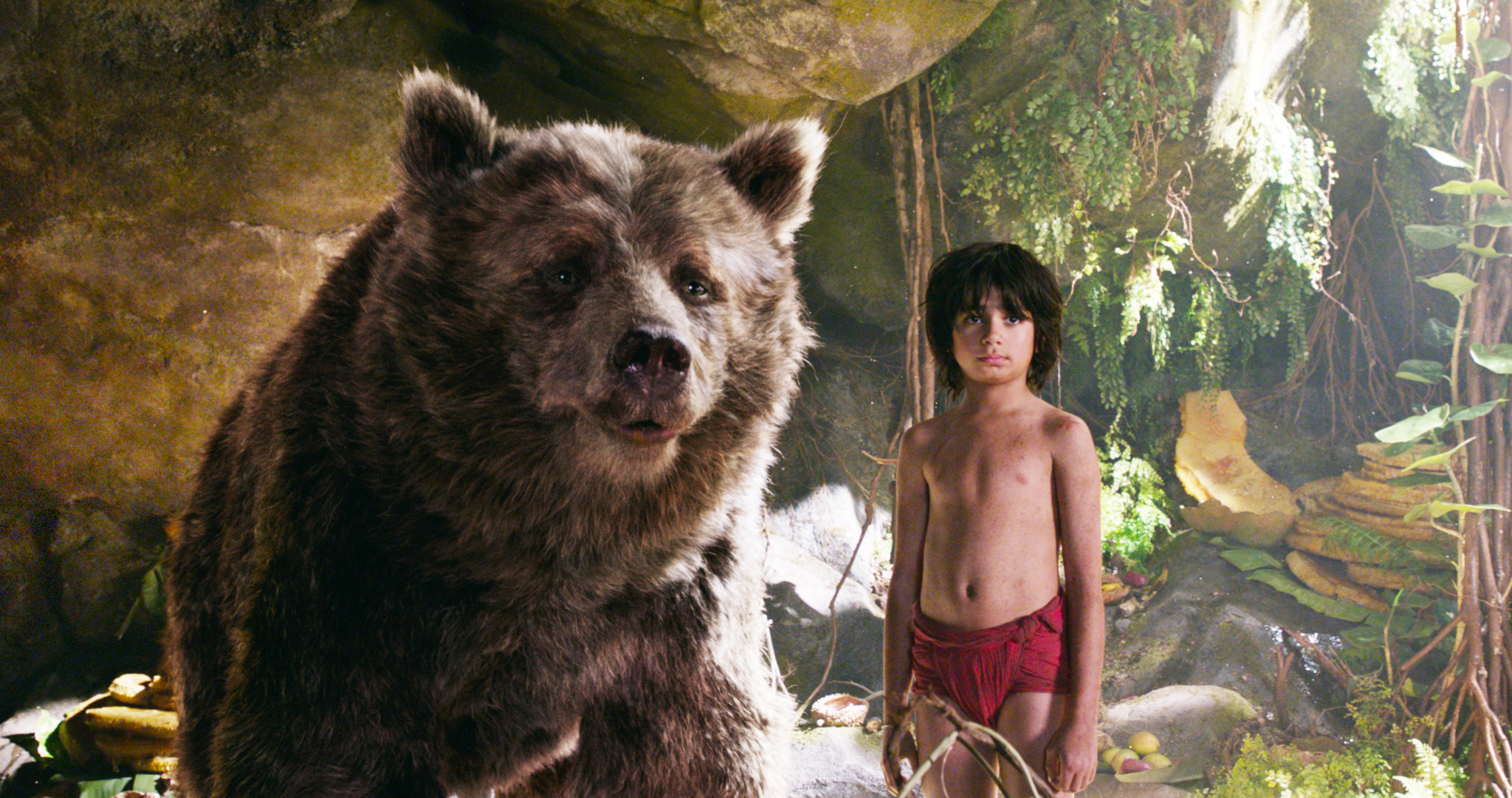 THE JUNGLE BOOK - (L-R) BALOO and MOWGLI. ©2106 Disney Enterprises, Inc. All Rights Reserved.
