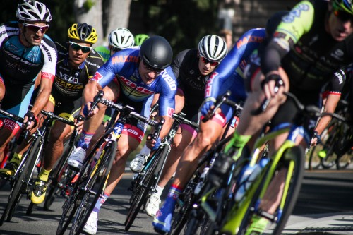Cyclists compete in the John Johnson Family Men Pro Classic PRT race during the Dana Point Grand Prix of Cycling on April 30. Photo: Alex Paris