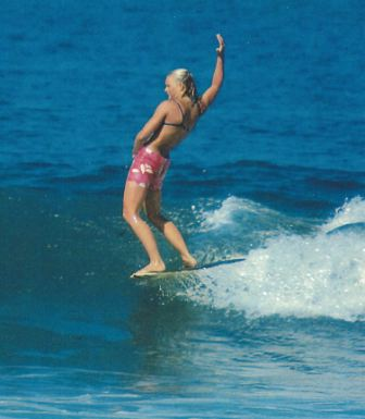 Joyce Hoffman, regarded as one of the best female surfers ever, will be inducted into the San Clemente Sports Wall of Fame on May 21. Photo: Steve Breazeale