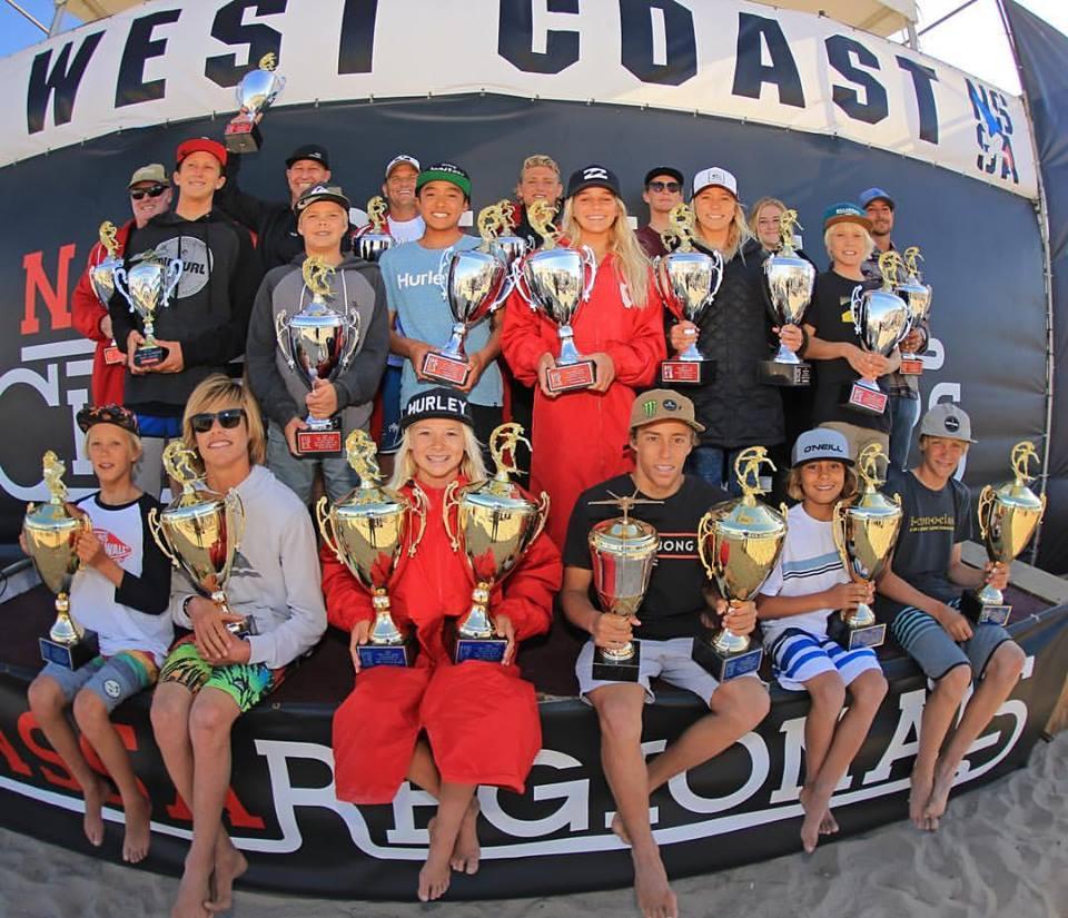 Winners at the NSSA West Coast Championships. Photo: Kurt Steinmetz