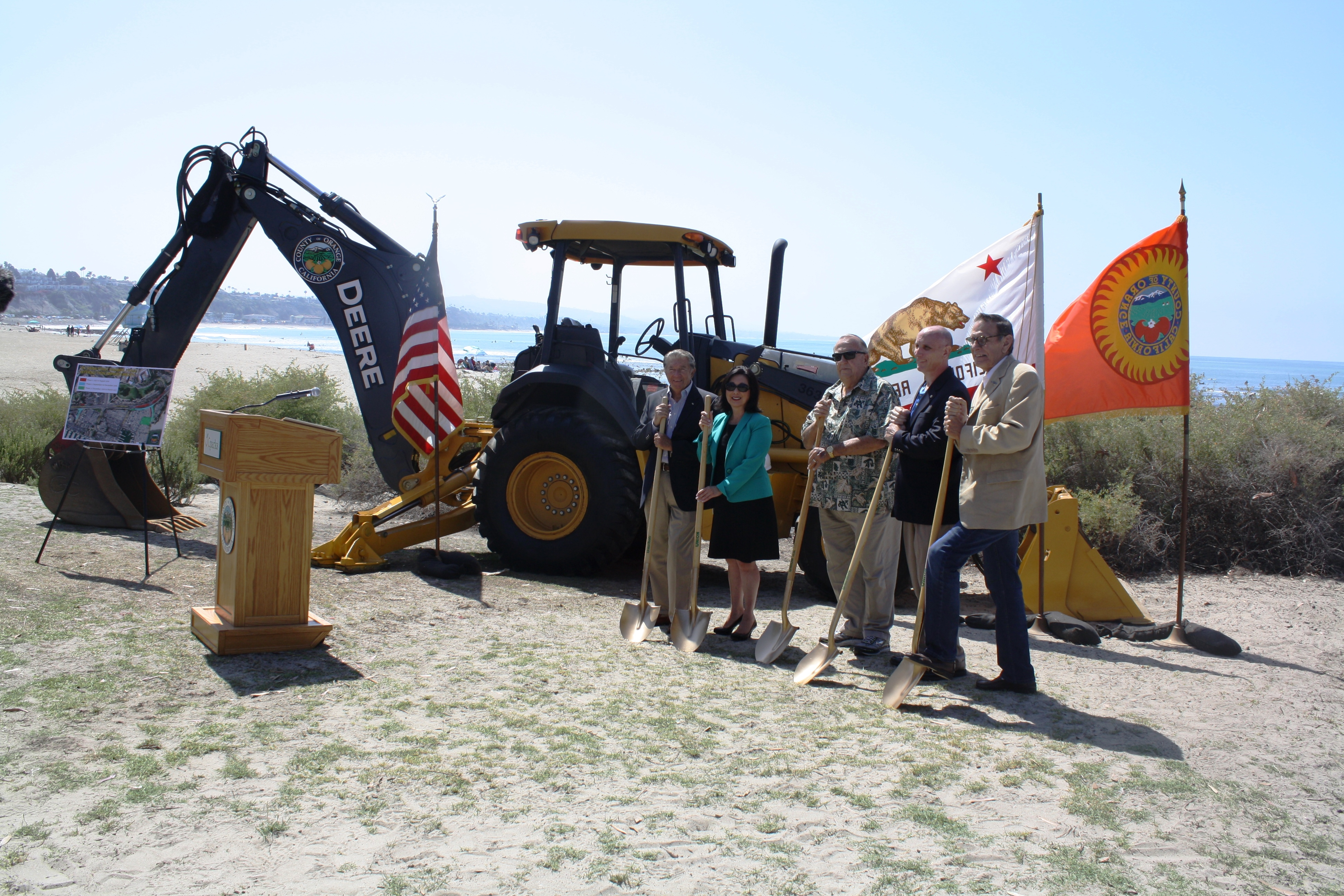 City, County officials hold a groundbreaking ceremony for the Dana Point Harbor revitalization project on Wednesday, June 29, 2016. Photo: Kristina Pritchett