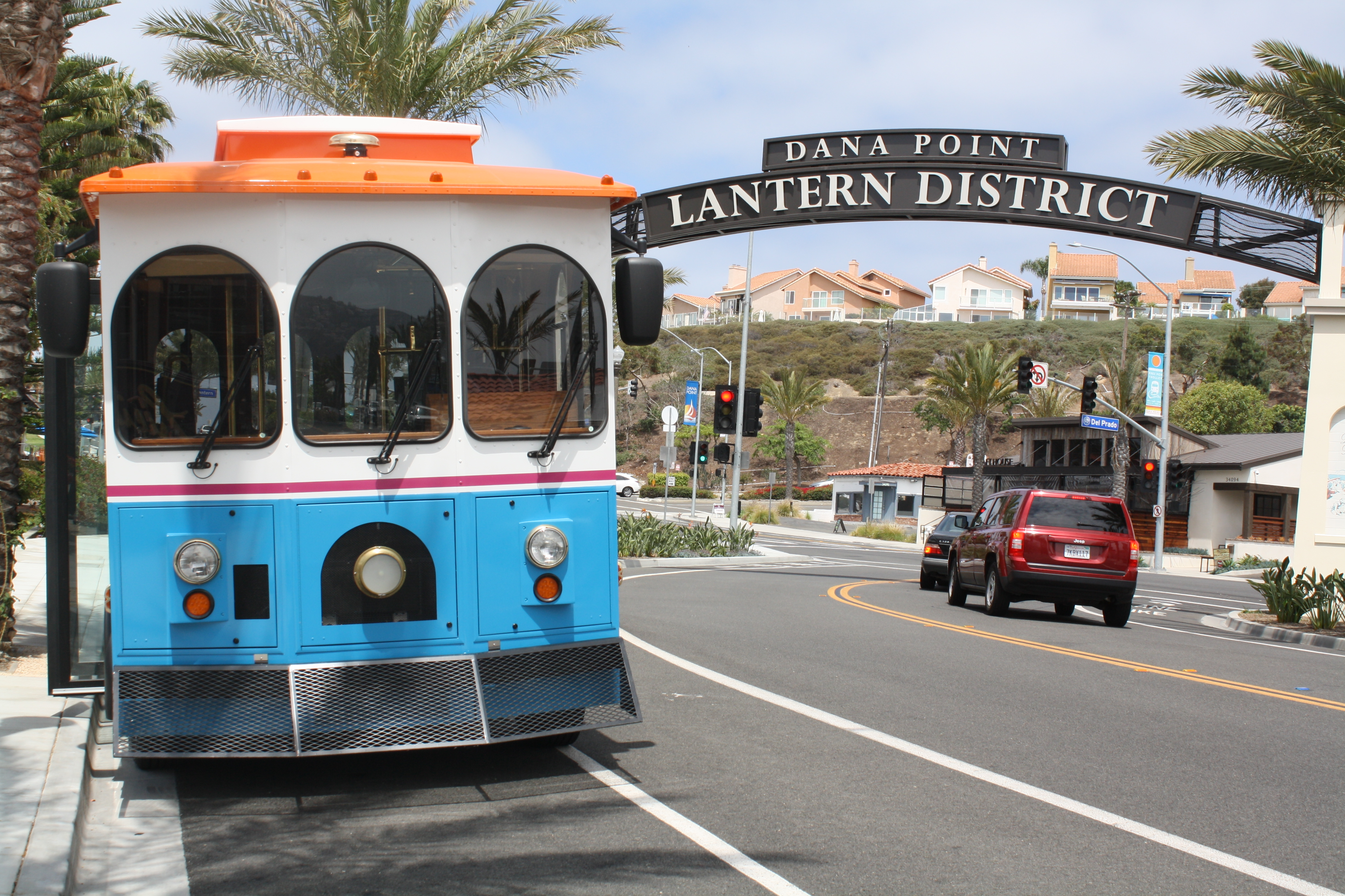 The new open-air trolley was unveiled by city officials on Wednesday. Photo: Kristina Pritchett