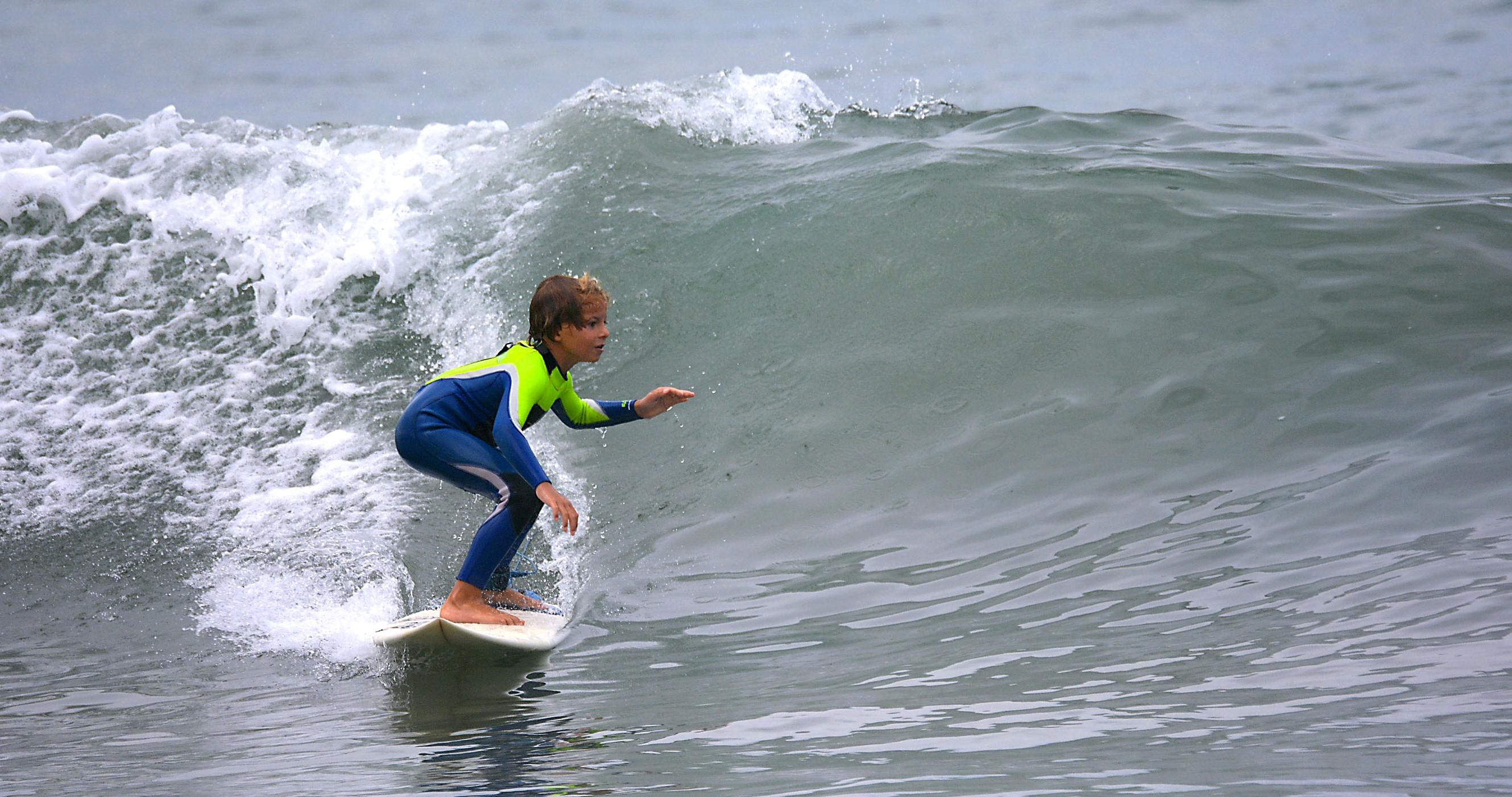Nolan Senn, 8, surfs during the  Photo: Courtesy of AJ McClintick