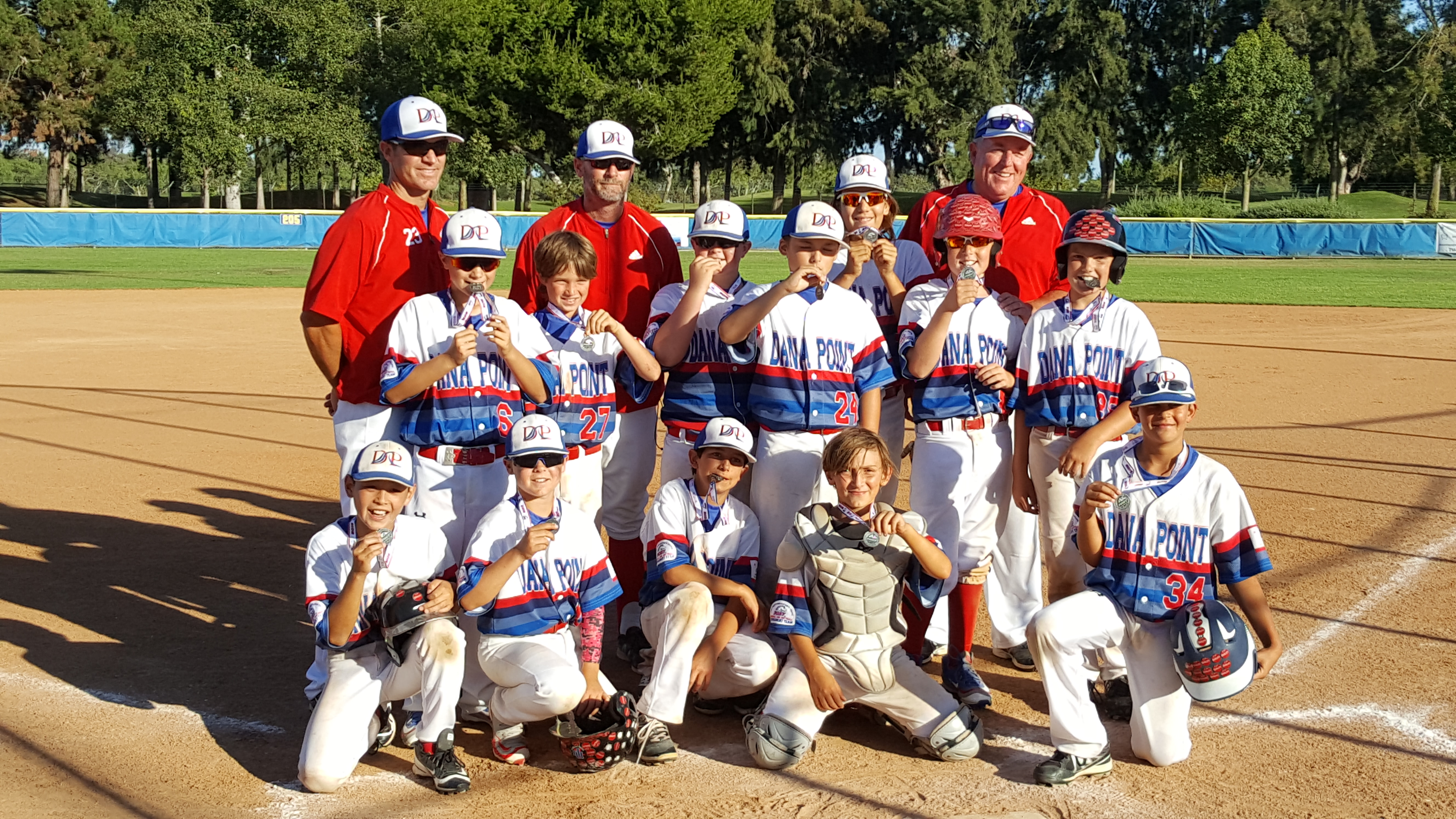 The Dana Point PONY 10U All-Stars advanced to the leagues regional tournament last week. Photo: Courtesy