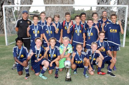 The CFA's San Clemente U15 boys team won the SC Surf Summer Classic on Aug. 21. Photo: Mike Moralis