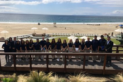 Dana Hills High School students spend two days a week at Monarch Beach Resort to learn about the hotel industry. Photo: Courtesy of Marie Shirran, program coordinator at Capistrano Unified School District