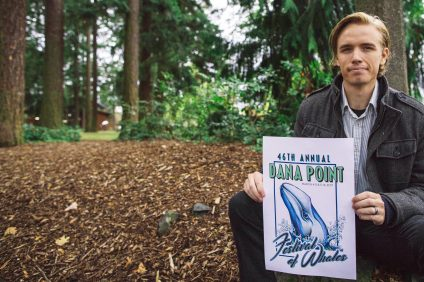 Alex Van Brasch, a Simi Valley resident, was named the Festival of Whales Logo contest winner. Photo: Courtesy of Quintin Hardgrove
