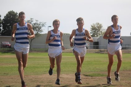 The Dana Hills boys cross country team placed second at the CIF-SS Finals on Nov. 19. Photo: Steve Breazeale