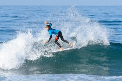 Kade Matson performed well at the Rip Curl GromSearch National Championships last weekend. Photo: Steve Mo
