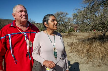 San Juan Capistrano residents Jerry Nieblas and his cousin, Gigi Nieblas, can trace their Acjachemen lineage back to the ancient village of Putuidem, where their five-times great grandmother, Maria Bernarda Chigilia lived. The city recently approved a 1.3-acre park at its Northwest Open Space—land where Putuidem once existed. Photo: Allison Jarrell